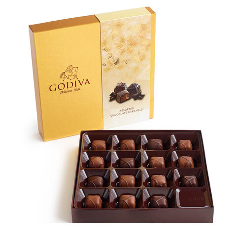Assorted Caramel Chocolate Gift Box, Set of 2, 9 pc. each