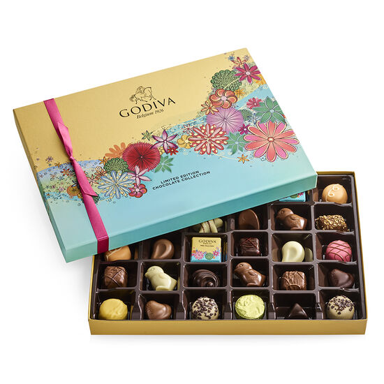 Assorted Chocolate Gift Box, Spring Ribbon, 32 pc. image number null