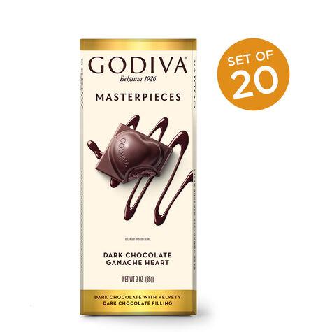 Masterpieces Dark Chocolate Ganache Heart Bar, 20 bars