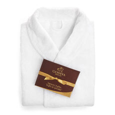 White Cotton Robe with Signature Chocolate Truffles, 12 pc.