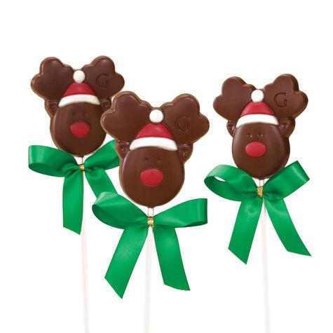 Milk Chocolate Reindeer Lollipop (Set of 3)