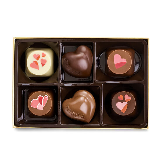Valentine's Day Assorted Chocolate Gift Box, 6 pc. image number null