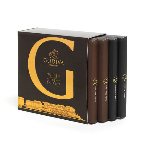 Murder on the Orient Express G by Godiva Chocolate Bar Classic Gift Set, 4 pc.