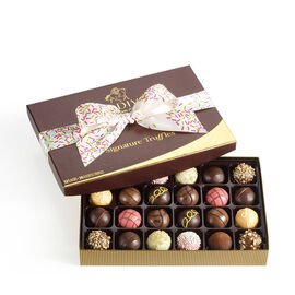Signature Truffles Gift Box, Celebration Ribbon, 24 pc.