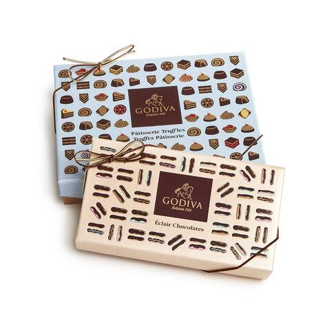 Chocolate Eclairs Gift Box, 5 pc. and Patisserie Dessert Truffles, 12 pc.