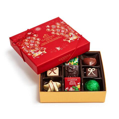 2-Tier Seasonal Chocolate Gift Tower