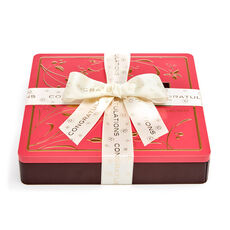 Chocolate Biscuit Tin, Congratulations Ribbon, 46 pc.