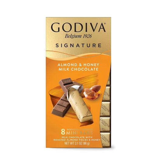 Signature Almond & Honey Milk Chocolate Mini Bars, Set of 24, 8 pc. each image number null