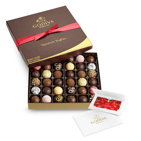 $50 Holiday Gift Card & Signature Truffles, 36 pc.