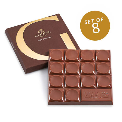 G by Godiva Milk Chocolate Bar, 42% Cocoa, Set of 8, 2.8 oz. each