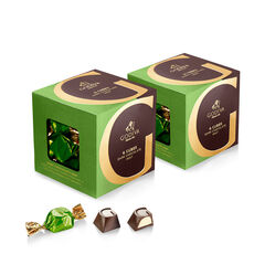 Dark Chocolate Mint G Cube Box, Set of 2, 22 pcs. each