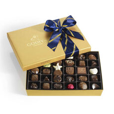 Assorted Chocolate Gold Gift Box, Striped Tie, 36 pc.