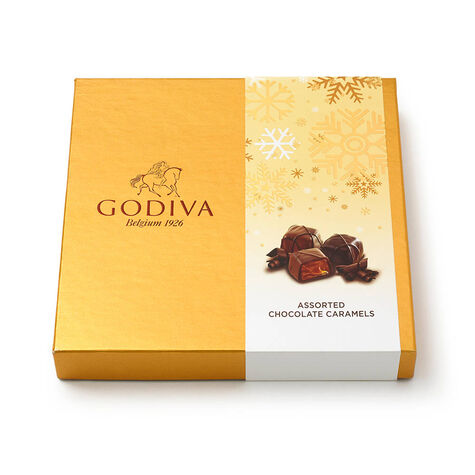 Assorted Caramel Chocolate Gift Box, Holiday, 15 pc.
