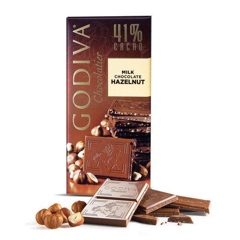 Large 41% Milk Chocolate Hazelnut Bar Set of 10