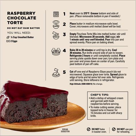 Raspberry Chocolate Torte Baking Mix with Raspberry Glaze