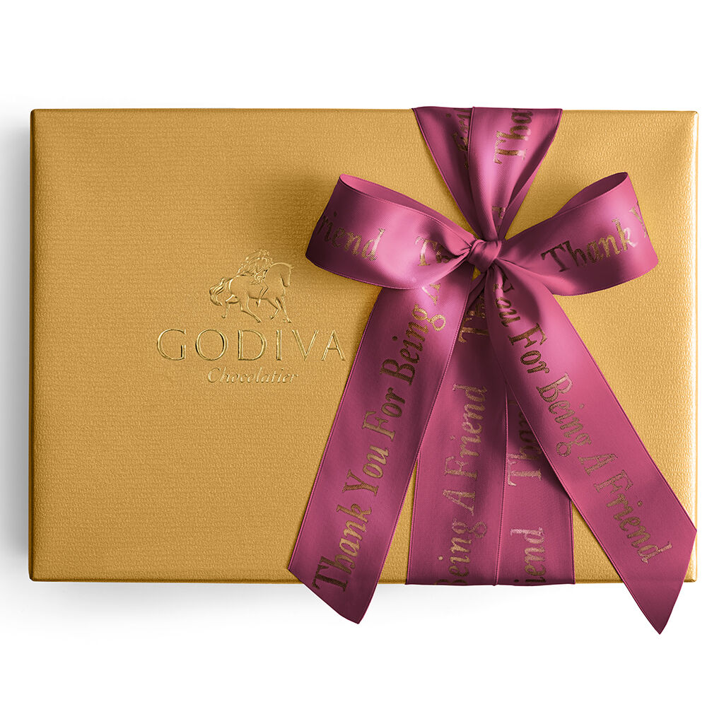 Assorted Gold Gift Box, Personalized Wine Ribbon, 70 pc.