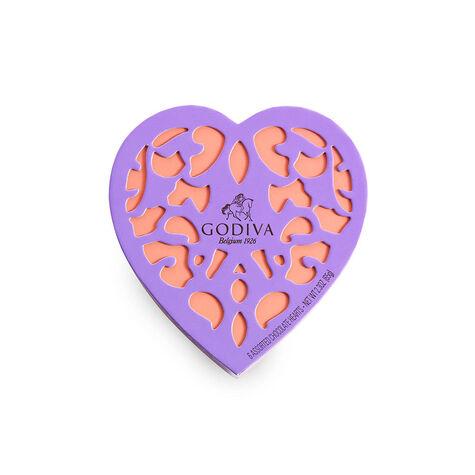 6 pc. Iconique Heart - Purple