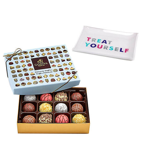 Treat Yourself Tray with Patisserie Truffles Gift Box, 12 pcs.
