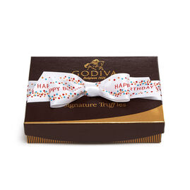 Signature Truffles Gift Box, Happy Birthday Ribbon, 12 pc.