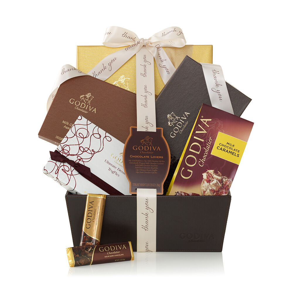 Chocolate Lover's Basket, Thank You Ribbon