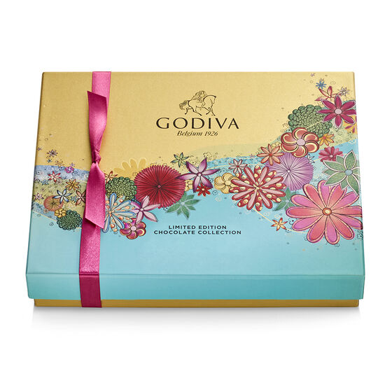 Assorted Chocolate Gift Box, Spring Ribbon, 16 pc. image number null