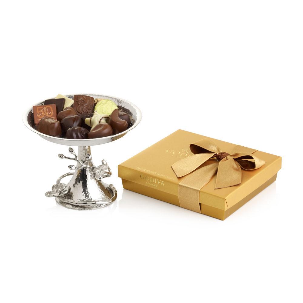 Gold Ballotin & Michael Aram White Orchid Candy Dish