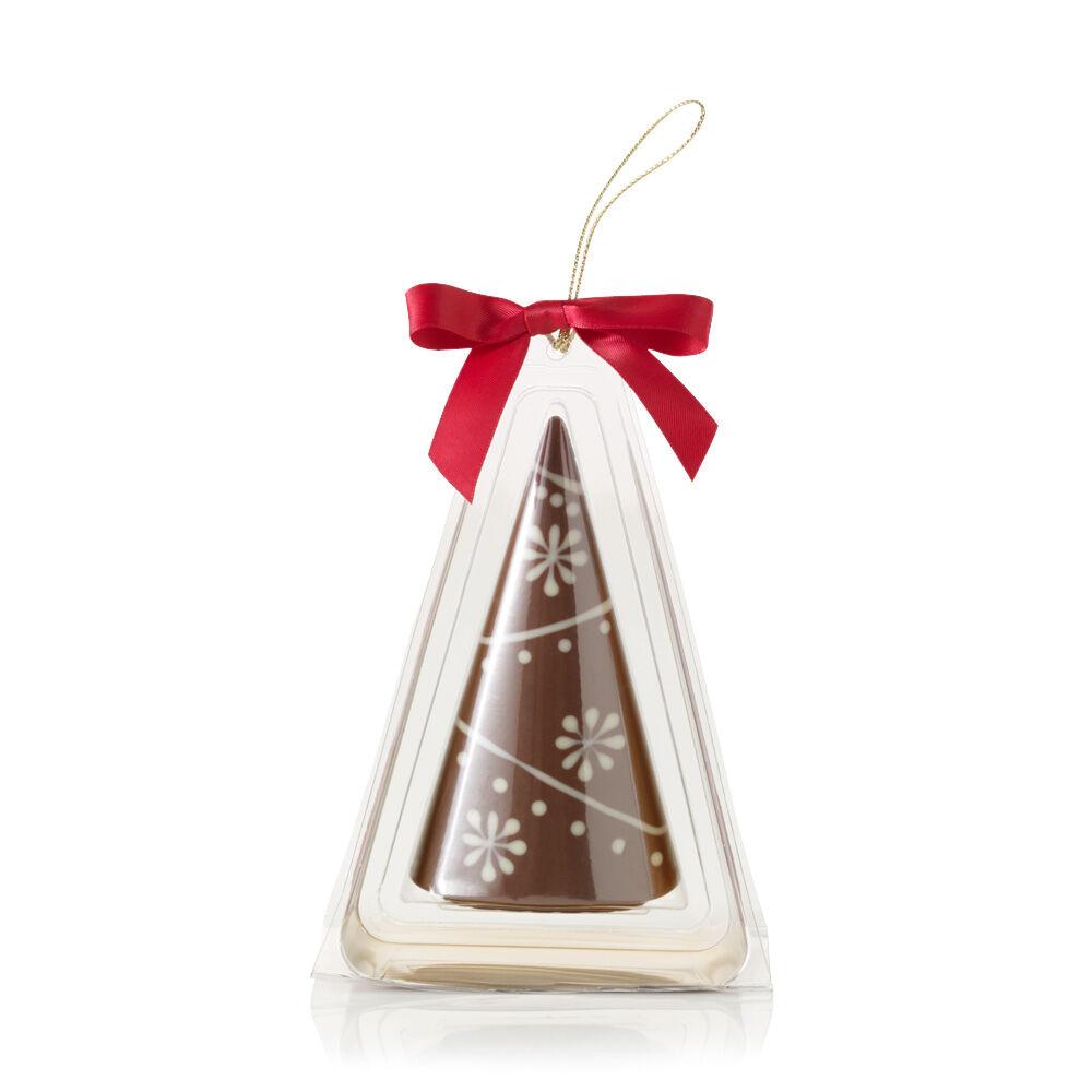 Milk Chocolate Christmas Tree Ornament with Snowflake Design