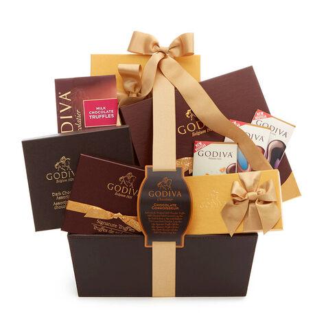 Chocolate Connoisseur Basket, Classic Ribbon
