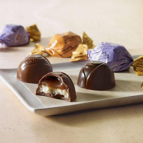 Wrapped Assorted Chocolate Dessert Truffles, Small Bag, Set of 36, 12 pc. each