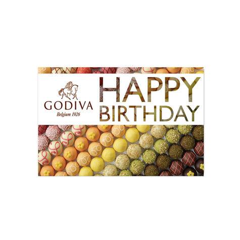 $25 GODIVA Happy Birthday Gift Card