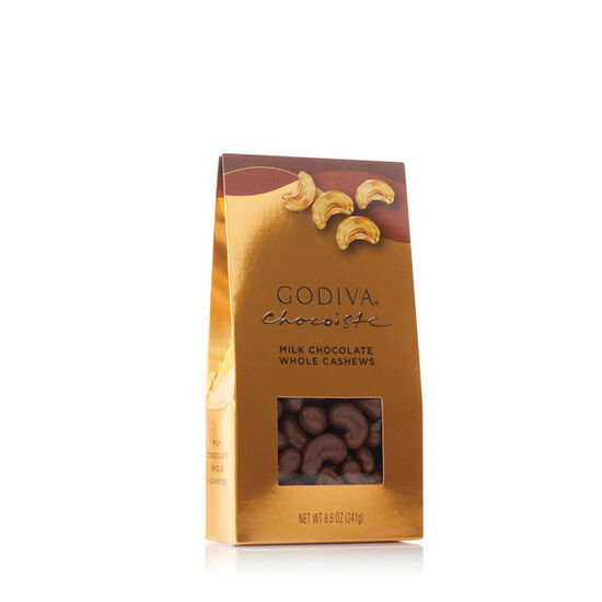 Milk Chocolate Covered Whole Cashews, 8.5 oz. image number null