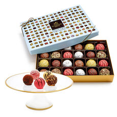 Dessert Pedestal with Chocolate Patisserie Dessert Truffles, 24 pc.
