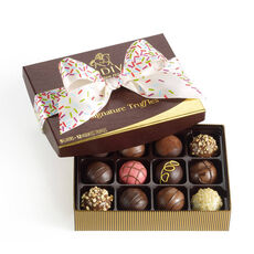 Signature Truffles Gift Box, Celebration Ribbon, 12 pc.