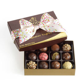 Signature Truffles Gift Box, Celebration Ribbon, 12 pc.