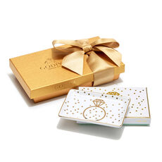 Ring Tray with Assorted Chocolate Gold Gift Box, 8 pc.