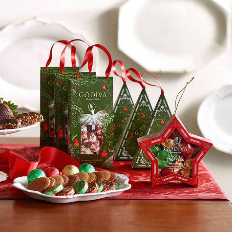 Mini Milk Chocolate Santa Pouch, Foil Wrapped, 15 pc.