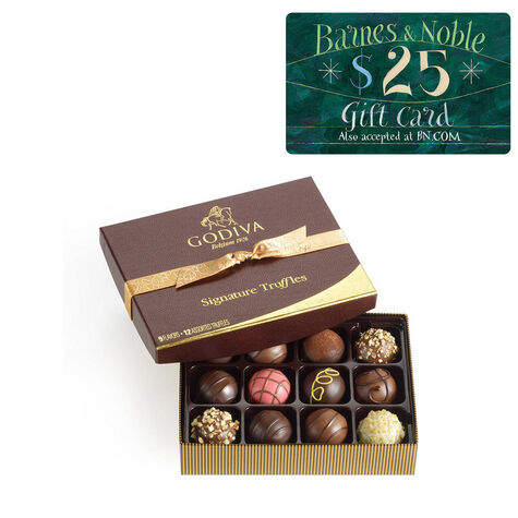 Signature Truffles Gift Box and Barnes & Noble Gift Card