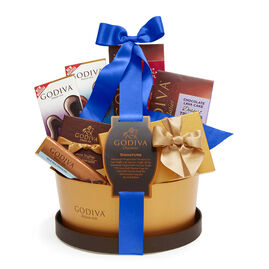 Signature Gift Basket with Royal Blue Ribbon