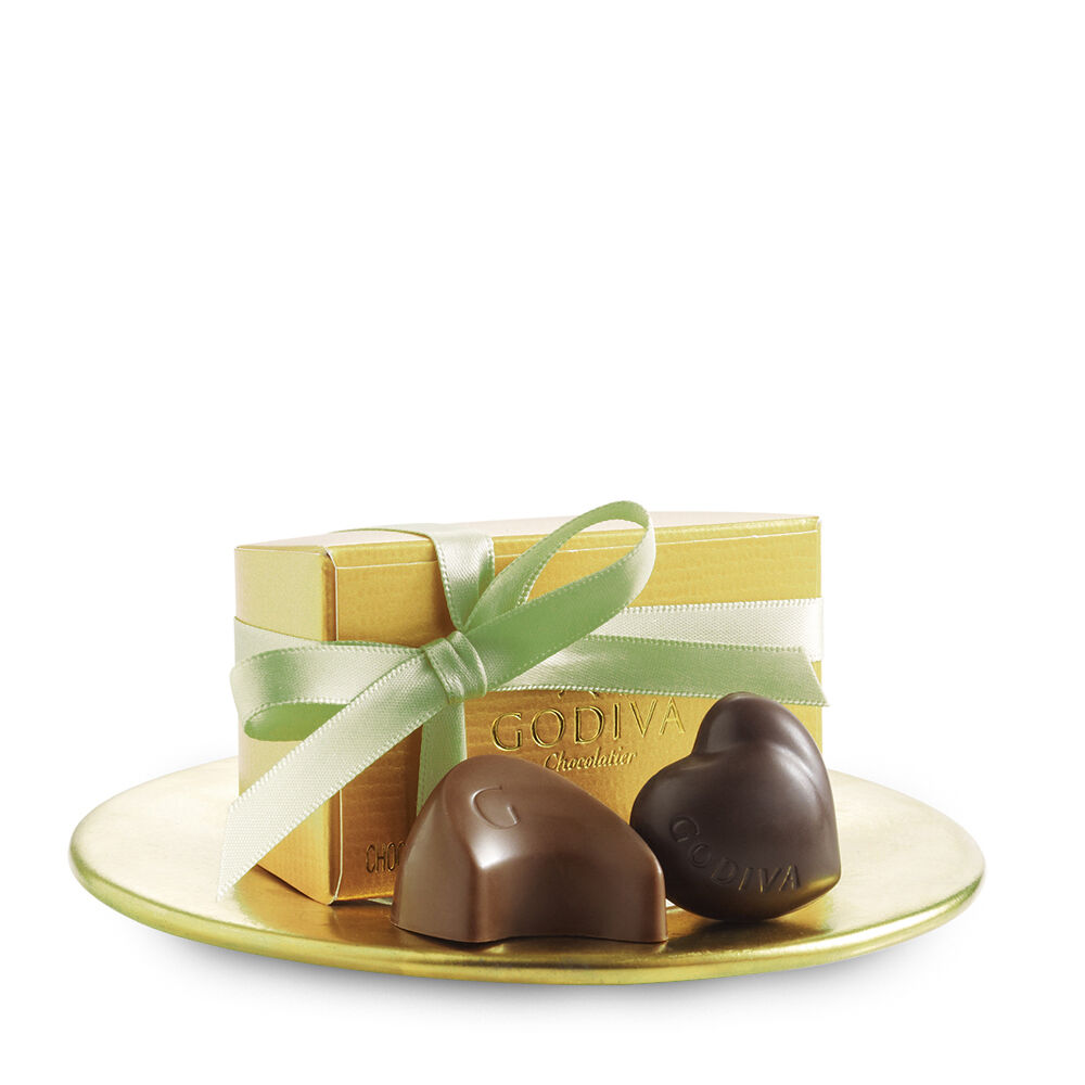 Assorted Chocolate Gold Favor, Sage Ribbon, 2 pc.