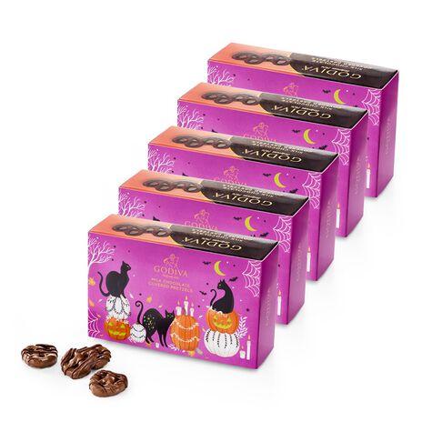 Halloween Milk Chocolate Covered Mini Pretzels, Set of 5, 2.5 oz Each