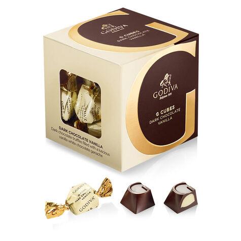 Dark Chocolate G Cube Sampler, Set of 4, 22 pcs. each