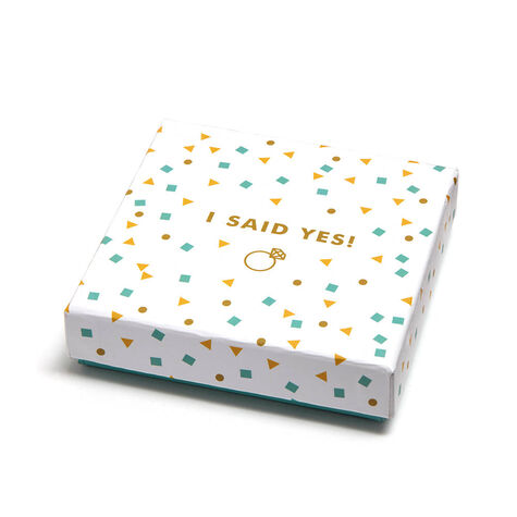 I Said Yes Square Tray & Assorted Chocolate Gold Gift Box, 19 pc.
