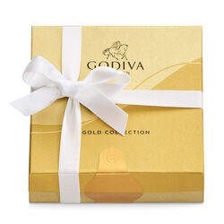 Assorted Chocolate Gold Favor, White Ribbon, 4 pc.