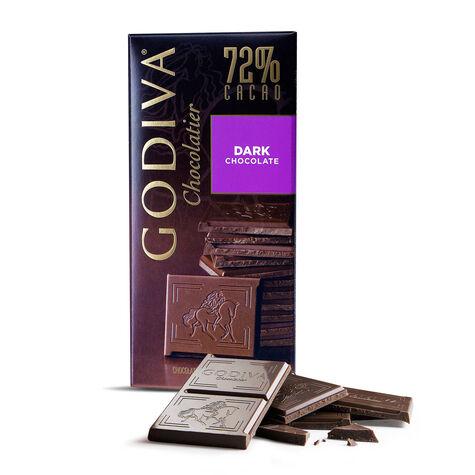 Large 72% Dark Chocolate Bar, Set of 20