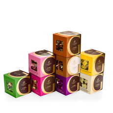 Chocolate Assortment G Cube Sampler, Set of 8, 22 pcs. each