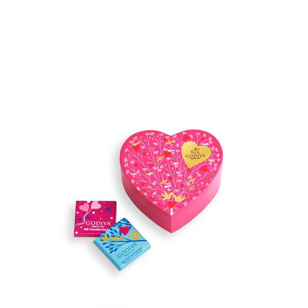 6 pc. Mini Chocolate Heart Box