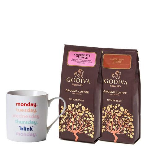 Blink Mug with Godiva Ground Coffees, Set of 2