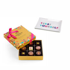 Treat Yourself Tray with Chocolate Festival Gold Gift Box, 9 pc.