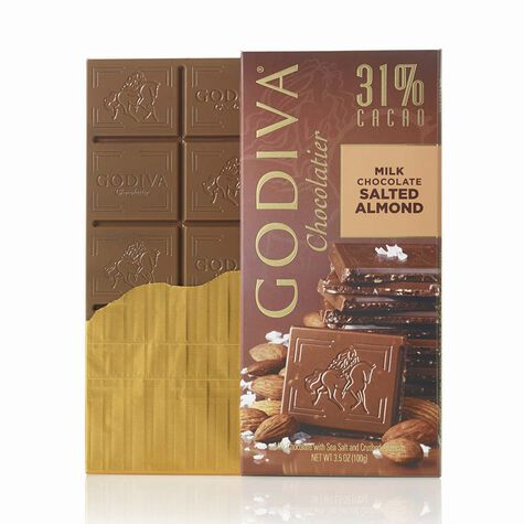 Milk Chocolate Salted Almond Bar, 31% Cocoa, 3.5 oz.