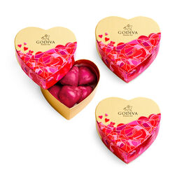 Set of 3 Valentine's Day Mini Heart Gift Boxes, 6pc. each